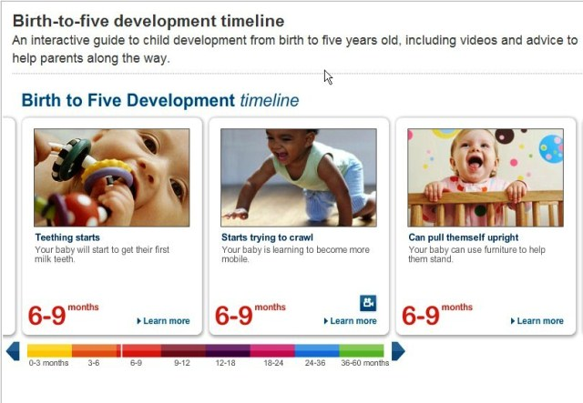 nhs birth to five timeline
